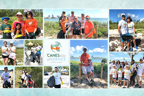 'Canes Day of Service collage