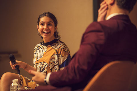 Alessia Cara was interviewed by Carlos Rivera, assistant professor at the Frost School of Music